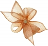 Elegance Collection Diamante Clip Fascinator in Metallic Pink