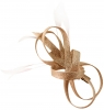 Elegance Collection Loops Clip Fascinator in Metallic Pink