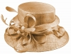 Elegance Collection Sinamay Loops Wedding Hat in Metallic Pink