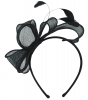 Elegance Collection Sinamay Loops and Feathers Fascinator in Midnight