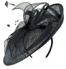 Failsworth Millinery Events Disc Headpiece in Midnight