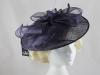 Failsworth Millinery Saucer Headpiece in Midnight