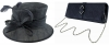 Failsworth Millinery Wedding Hat with Matching Sinamay Occasion Bag in Midnight