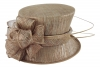 Failsworth Millinery Wedding Hat in Mink-Silver
