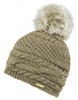 Alice Hannah Alexa Ribbed Knitted Beanie in Mink