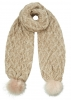 Boardman Sparkle Bobble Scarf in Mink