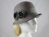 Victoria Ann Pom Pom Winter Hat in Mink