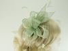 Hawkins Collection Sinamay Fascinator in Mint Green