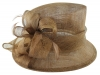 Hawkins Collection Down Brim Wedding Hat in Mocha