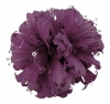 Failsworth Millinery Feather and Diamante Fascinator in Morado