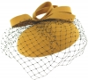 Failsworth Millinery Veiled Wool Pillbox in Mustard