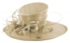 Elegance Collection Ascot Hat in Natural