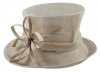 Elegance Collection Sinamay Flower Occasion Hat in Natural