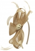 Elegance Collection Sinamay Headpiece Fascinator in Natural