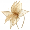 Elegance Collection Sinamay Leaf Fascinator in Natural
