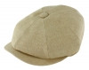 Failsworth Millinery Irish Linen Alfie Cap in Natural