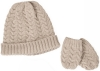 SSP Hats Cable Knit Baby Hat and Mittens