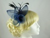 Large Bright Fascinator in Navy