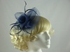 Aurora Collection Large Flower Fascinator in Navy