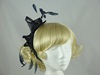 Navy Twist Fascinator