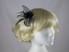 Rose Two Tone Fascinator in Navy & Cream