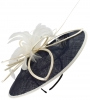 Failsworth Millinery Butterfly Events Disc in Navy & Ivory