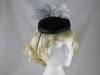 Failsworth Millinery Flower Pillbox in Navy & White