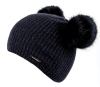 Alice Hannah Havana Double Pompom Beanie in Navy
