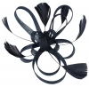 Aurora Collection Fascinator with Loops and Feathers in Navy