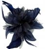 Aurora Collection Flower Comb Fascinator in Navy