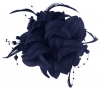 Aurora Collection Flower Fascinator in Navy