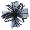 Aurora Collection Biots and Beads Fascinator in Navy