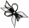 Elegance Collection Diamante Clip Fascinator in Navy