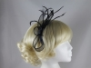 Elegance Collection Sinamay Fascinator in Navy