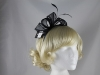 Elegance Collection Loops Fascinator in Navy