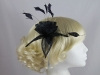Elegance Collection Loops and Leaves Fascinator in Navy