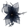 Failsworth Millinery Diamante Organza Fascinator in Navy
