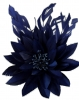 Failsworth Millinery Feather Flower Fascinator in Navy