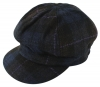 Failsworth Millinery Harris Tweed Bakerboy Cap in Navy