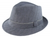 Failsworth Millinery Irish Linen Trilby in Navy
