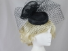 Failsworth Millinery Mini Pillbox with Veil in Navy