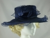 Failsworth Millinery Organza Occasion Hat in Navy