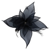 Failsworth Millinery Organza Petals Fascinator in Navy
