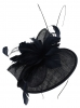 Failsworth Millinery Quills Disc Headpiece in Navy