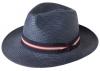 Failsworth Millinery Regimental Panama Hat in Navy