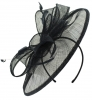 Failsworth Millinery Sinamay Disc Headpiece in Navy