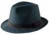 Failsworth Millinery Straw Trilby in Navy