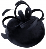 Failsworth Millinery Velvet Loops Pillbox in Navy