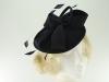 Failsworth Millinery Wool Felt Disc Headpiece in Navy