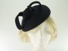 Failsworth Millinery Wool Felt Pillbox Headpiece in Navy